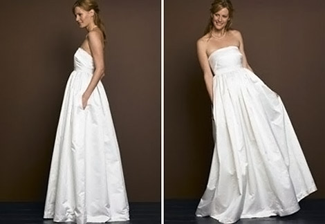 Pocket Wedding dress white