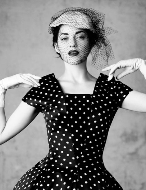 polka dots Dior Marion Cotillard