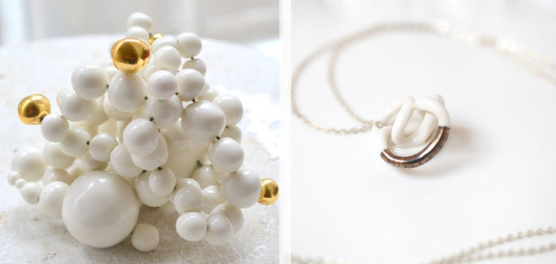 Dare To Wear Handmade Porcelain Jewelry From Goutte De Terre?