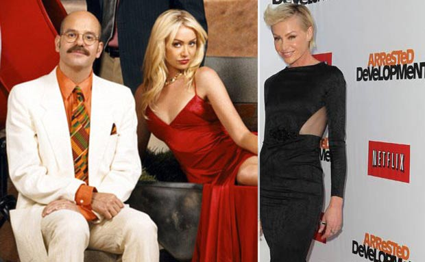 Portia de Rossi Arrested Development then and now