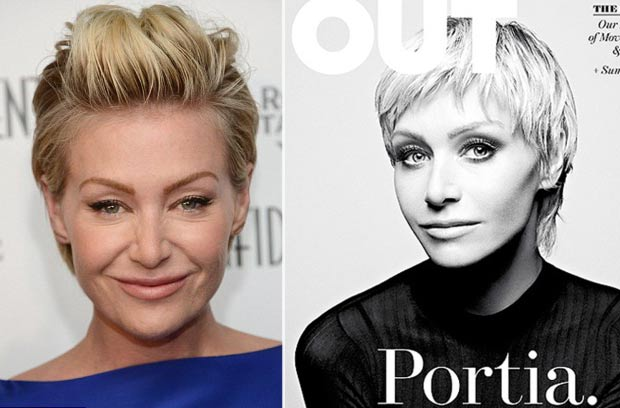 Portia de Rossi new short hair pixiecut