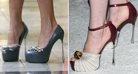Posh high heels and Anne Hathaway high heels