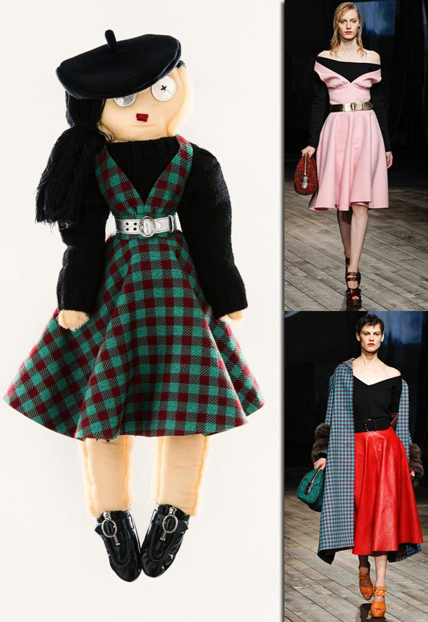 Prada doll for Unicef inspired by catwalk collection