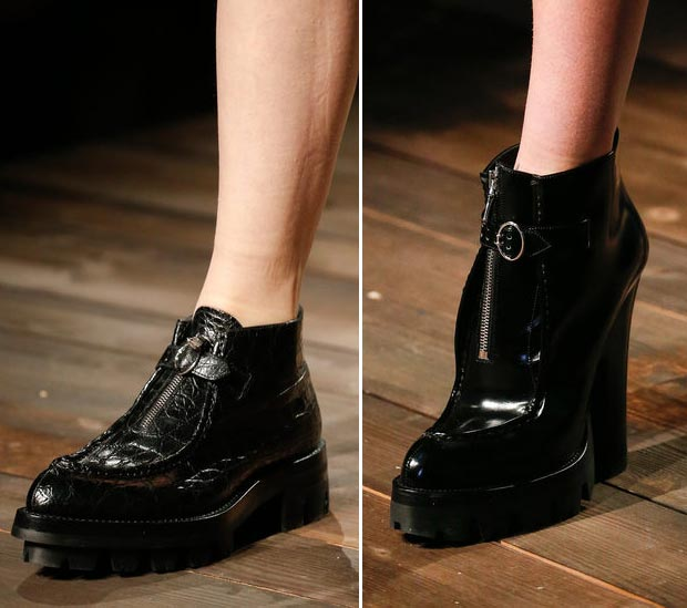 Prada Fall 2013 collection black shoes