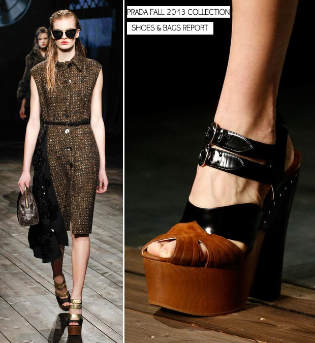 Prada Fall 2013 shoes and bags report