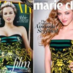 Prada green dress Magazines covers