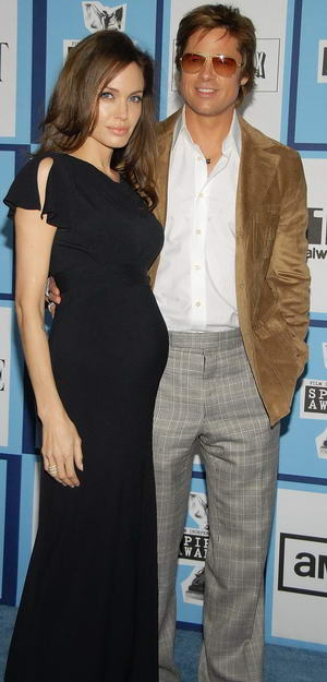 Pregnant Angelina Jolie at the Independent's Spirit Award 2008