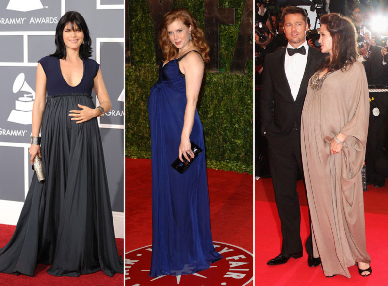 pregnant celebrities on the Red Carpet Selma Blair Amy Adams Angelina Jolie
