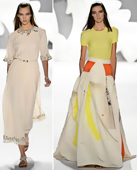 pretty dresses for summer Carolina Herrera Spring 2013 collection