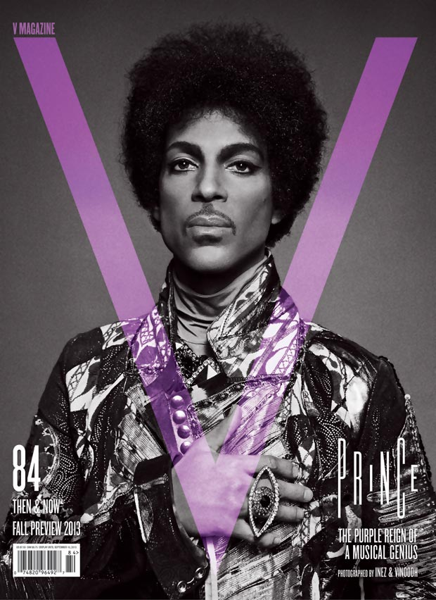 Prince purple V magazine cover Fall 2013