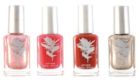 Priti Nails Soy based organic nail polish shades