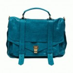 Proenza Shouler PS 1 bag blue leather