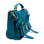 Proenza Shouler PS 1 bag blue leather detail