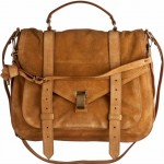 Proenza Shouler PS 1 bag brown suede
