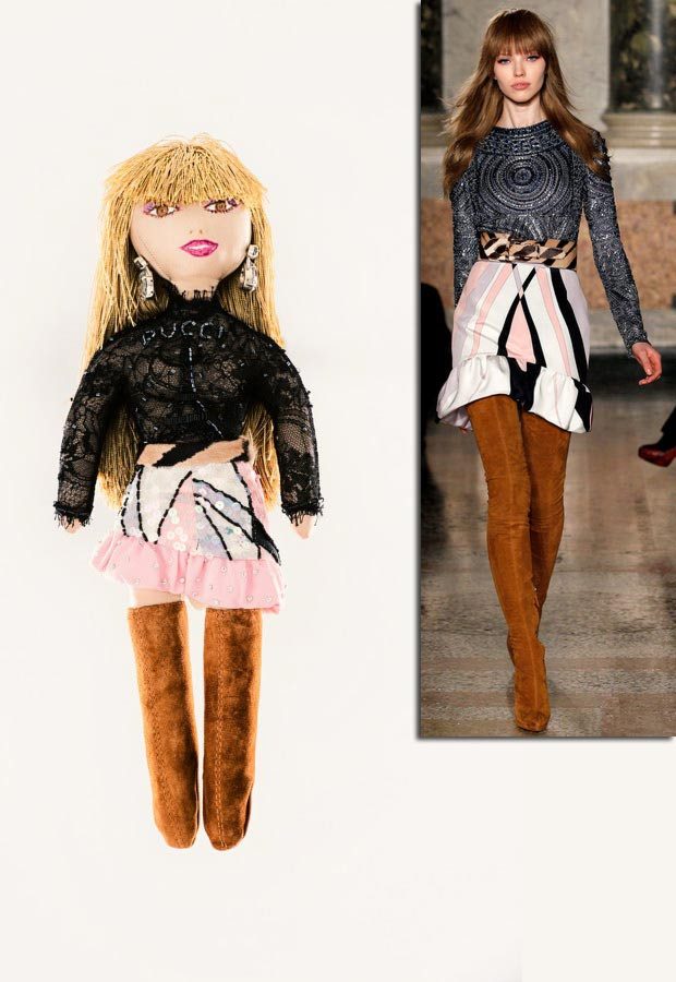 Pucci doll for Unicef inspired by catwalk collection