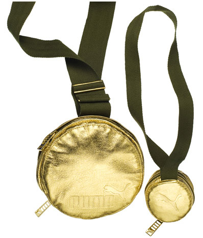 Puma Gold Medallion Bags And Olympic Ring Bags