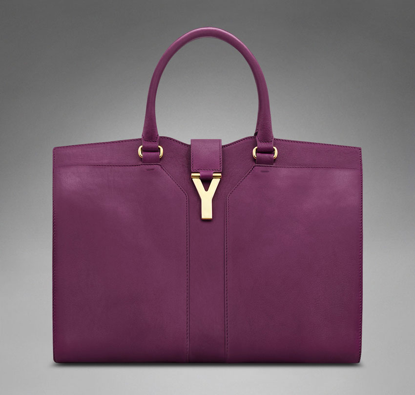 Purple YSL bag Chyc Cabas cerise