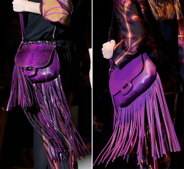 purple Gucci Spring 2014 bags