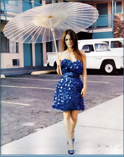 Rachel Bilson Nylon Magazine Blue Dress Picture