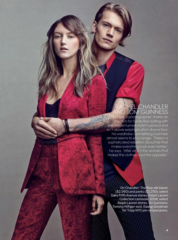 Rachel Chandler and boyfriend Tom Guinness in Vogue