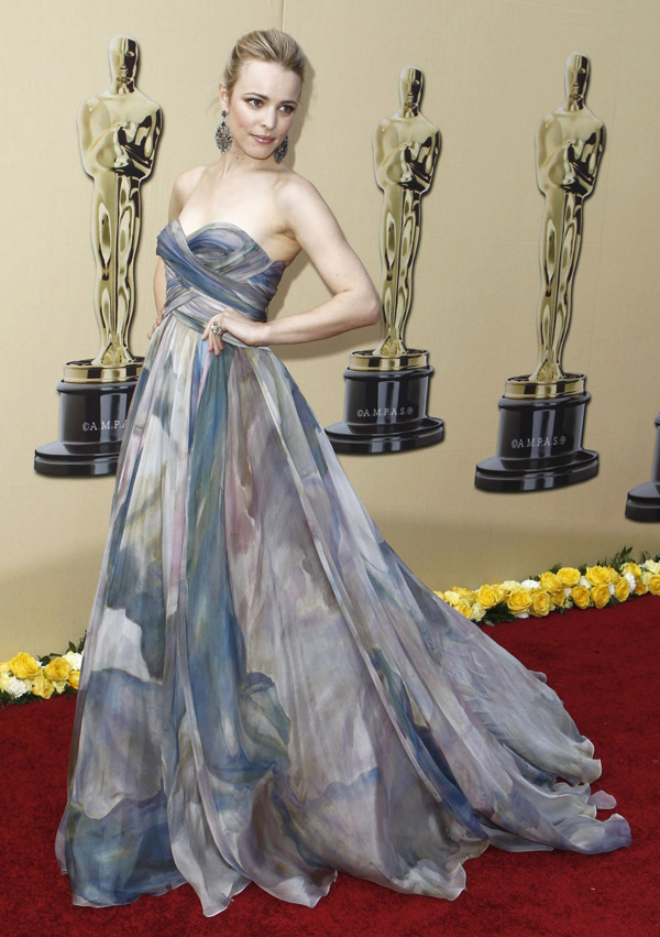 Rachel McAdams Elie Saab couture dress 2010 Oscars 1