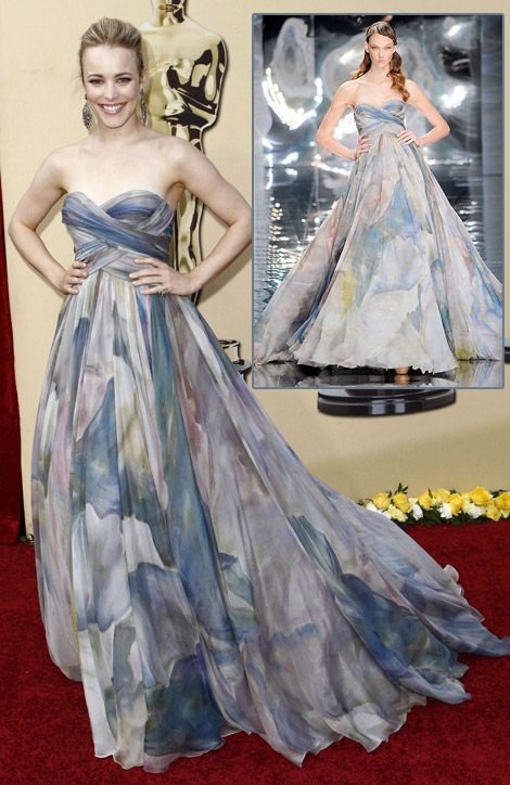 Rachel McAdams Elie Saab Couture dress 2010 Oscars