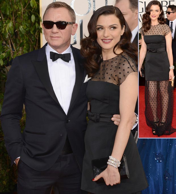 Rachel Weisz Louis Vuitton black dress 2013 Golden Globes