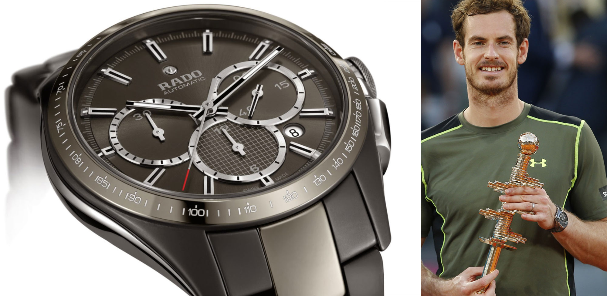 Rado Automatic Chronograph watch worn by Andy Murray