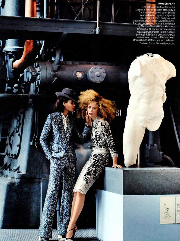 Raquel and Joan play lesbian couple in Vogue March 2013