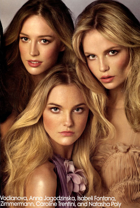 The Faces Of The Moment Cover US Vogue May 2009