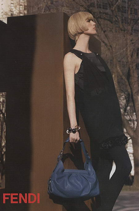 Raquel Zimmerman Fendi Fall Winter 2008 2009 Ad Campaign