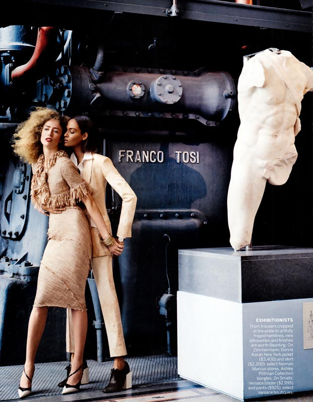 Raquel Zimmermann Joan Smalls couple up in Vogue