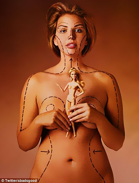 real woman body compared to Barbie s body