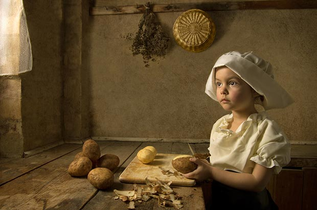 recreating classic paintings Bill Gekas photography