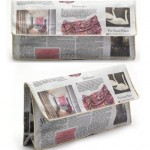 Recycled paper clutch