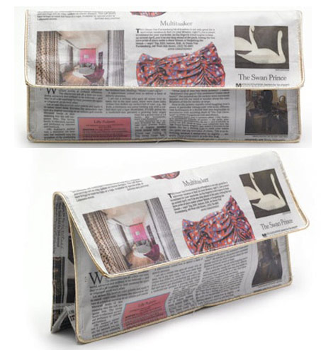 Fashionable Reading – The News Clutch Bag