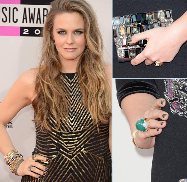 Red Carpet nails 2013 AMAs grey nails