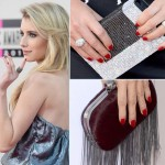 Red Carpet nails 2013 AMAs red nails