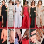 Red Carpet red nails Golden Globes Jennifer Aniston Viola Davis Michelle Monaghan JLo