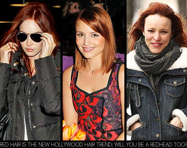 red hair must Megan Fox Dianna Agron Rachel McAdams