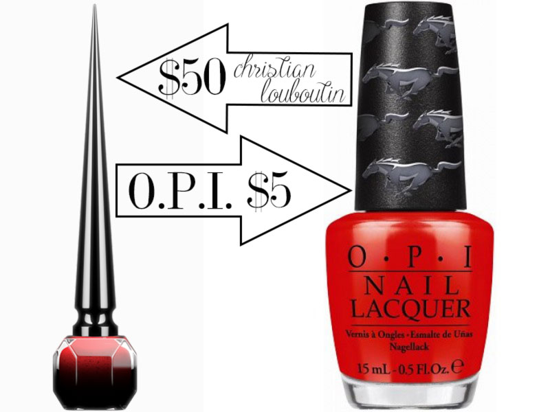 red polish comparison Christian Louboutin Rouge vs OPI Race Red