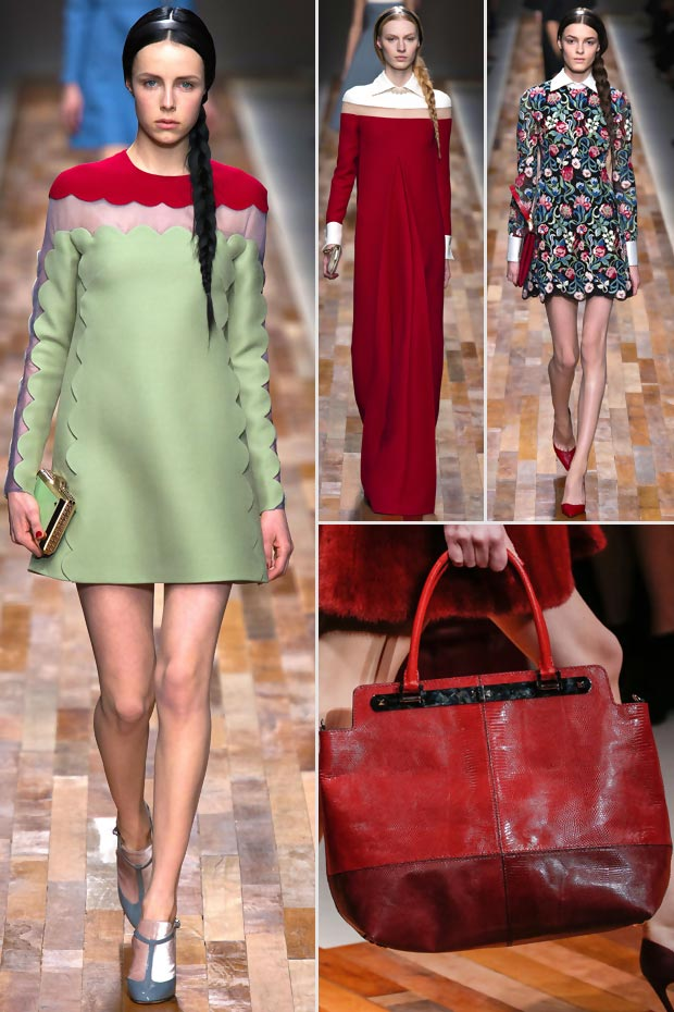 red white green Valentino Fall 2013 Dutch collection