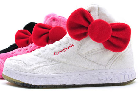 Reebok Hello Kitty Plush Kitty sneakers collection