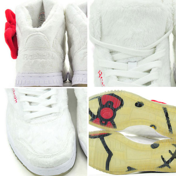 Reebok Hello Kitty Plush Kitty sneakers white