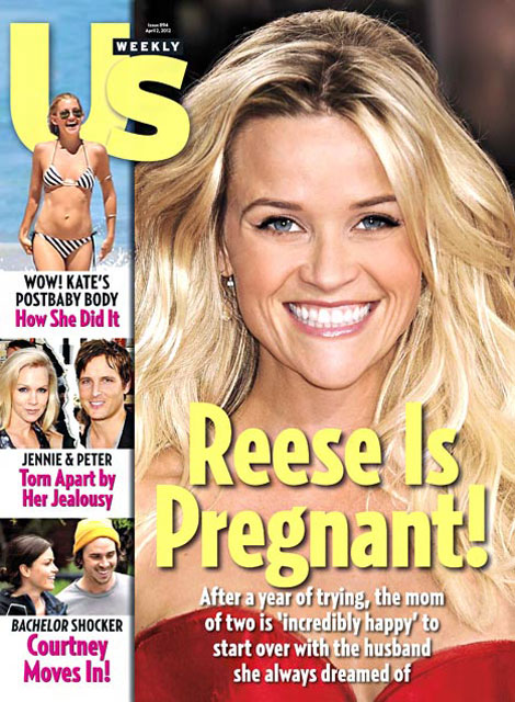 reese witherspoon announced her pregnancy