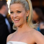 Reese Witherspoon black Armani dress 2011 Oscars