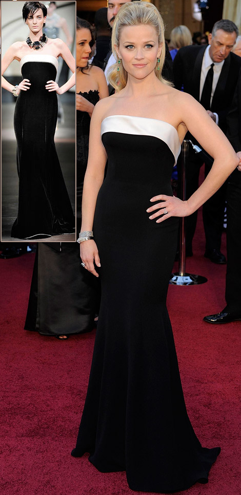 reese witherspoon wedding dress 2011. Reese Witherspoon Black Armani