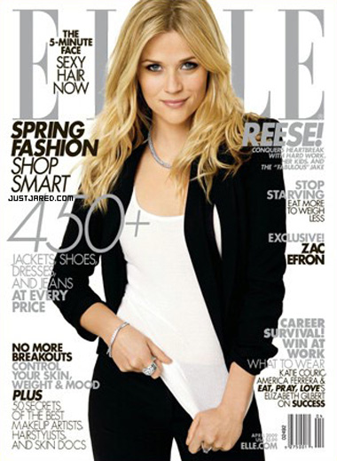Reese Witherspoon Elle April 09 cover