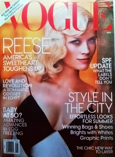 Reese Witherspoon Vogue May 2011 cover