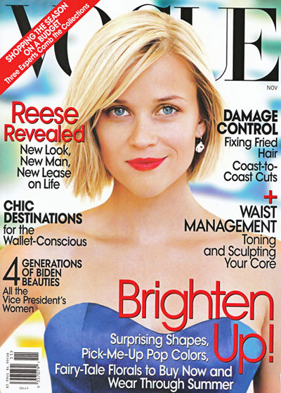 Reese Witherspoon Vogue US November 2008 cover